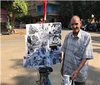 فيديو وصور| «عم حنفي» يحتفل بـ«عيد الفلاح» بشوارع القاهرة على طريقته الخاصة