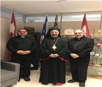 بطريرك الأقباط الكاثوليك يزور الآباء الفرنسيسكان بكندا