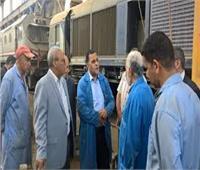 رئيس السكة الحديد يتفقد الجرارات والإشارات بورش فرز القاهرة