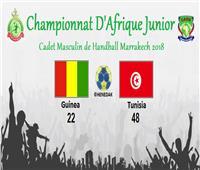 المنتخب التونسي لكرة اليد يكتسح غينيا بأمم إفريقيا