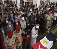 جنازة عسكرية لشهيد القوات المسلحة في بني سويف