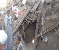 انهيار 3 منازل بالبرالغربي للأقصر وغرق أخرى