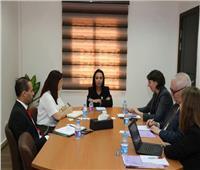 «مايا مرسي» تبحث مع وفد «OECD» مساواة المرأة وتمكينها السياسي