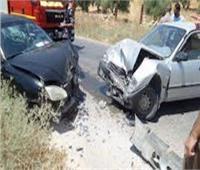 إصابة شخصين إثر حادث تصادم سيارتين أعلى طريق الفيوم الصحراوي