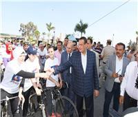 محافظ البحيرة يشهد انطلاق مهرجان الدراجات بدمنهور