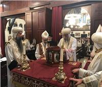 البابا تواضروس يزور كنيسة العذراء ومارمرقس بمانهاتن