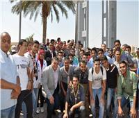 صور.. جامعة حلوان يفتتح العام الدراسى الجديد بتحية العلم