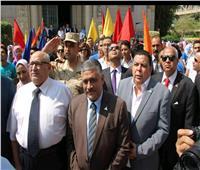 بالصور .. رئيس جامعة عين شمس يكرم مجلس اتحاد الطلاب