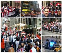 صور وفيديو  الجاليات المصرية في أمريكا.. دفاع شعبي عن الدولة ضد مخططات الإخوان