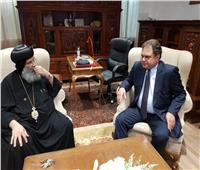 السفير المصري بفرنسا يزور كنيسة بليون