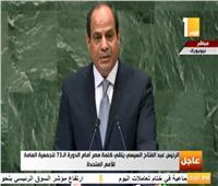 فيديو| السيسي: يد العرب مازالت ممدوة بالسلام