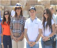 وزيرة الهجرة ووزير شئون المغتربين الأرميني يزوران منطقة الأهرامات