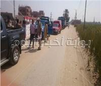إزالة التعديات والأدوار المخالفة في حملة بحي شرق أسيوط