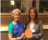 منظمة الصحة العالمية تكرم غادة والي وتمنحها جائزة القادة الأبطال لعام 2018