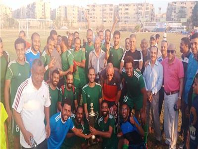 فريق «إنشاء الطرق» يفوز ببطولة الجمهورية للشركات لكرة القدم