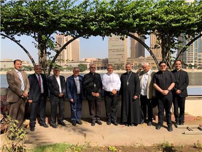 سفير الفاتيكان يستقبل الوفد الكاثوليكي الايطالي