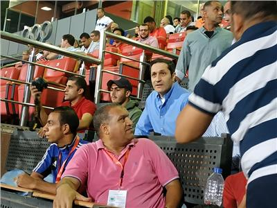 صور| علاء مبارك يدعم الأهلي قبل لقاء سطيف