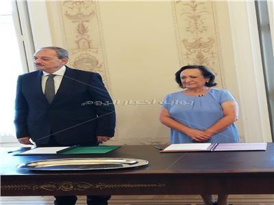 النائب العام يوقع مذكرة تفاهم للتعاون القضائي مع نظيرته البرتغالية