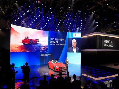 فيديو وصور| «BMW» تطلق أحدث سياراتها «Z4 Roadster» بمعرض باريس