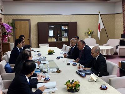 وزير الخارجية يلتقي أعضاء رابطة الصداقة البرلمانية اليابانية المصرية