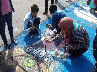 صور| مهرجان للرسم بالبحيرة احتفالًا بنصر أكتوبر
