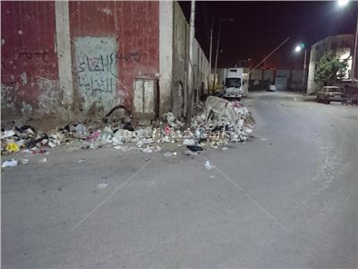 صور  مدخل مدينة أسيوط الجنوبي «حمير» و«قمامة» و«سيارات في الممنوع»