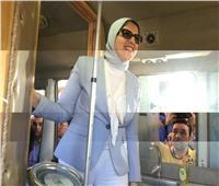 وزيرة الصحة تراجع آلية إدخال بيانات المواطنين في حميات الإسكندرية
