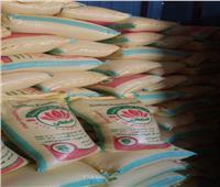 ضبط 10 طن أرز مجهول المصدر بقصد احتكاره وإعادة بيعه بالفيوم