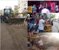 صور| حي العمرانية يرفع شعار «وداعًا للفوضى»