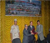 جامعة الفيوم تكرم المحاربين القدماء في ذكرى انتصارات أكتوبر