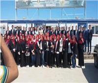 انطلاق الفوج الأول من شباب الجامعات لزيارة مدينة العلمين الجديدة