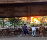 صور| 13 سيارة إطفاء لإخماد حريق مخزن المريوطية