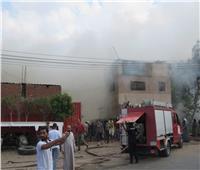 الدفاع المدني يسيطر على حريق بمقلب قمامة بطنطا
