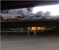 النيابة تعاين حريق مخزن حي الهرم