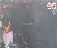 فيديو وصور| السيطرة على حريق مخزن الهرم.. وعودة حركة المرور لطبيعتها