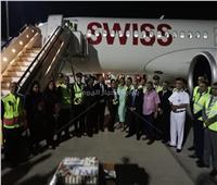 بالصور.. «مصر للطيران» تحتفل بوصول أول الرحلات السويسرية لمطار الغردقة