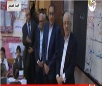فيديو| رئيس الوزراء يتفقد سير الدراسة بإحدى مدارس بورسعيد
