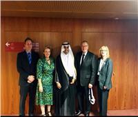 مشعل بن فهم السلمي يلتقي رئيس لجنة الشئون الخارجية والدفاع بالشيوخ الأسترالي
