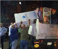 رفع إشغالات المقاهي المتعدية على الطريق  العام بالهرم