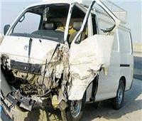 إصابة 17 عاملًا فى حادث تصادم سيارتين بالفيوم