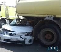 مصرع موظف وإصابة ضابط و3 جنود شرطة في حادث تصادم ببنها