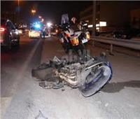 مصرع شاب سقط بدراجته النارية في حفرة بطريق القناطر الخيرية