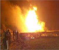 محاولات للسيطرة علي حريق في خطوط شركة أنابيب البترول بغرب السويس