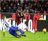 شاهد  ميلان يفوز بصعوبة على سامبدوريا في الدوري الإيطالي