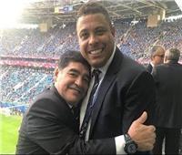 رونالدو يهنئ مارادونا بعيد ميلاده الـ 58