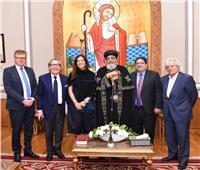 البابا تواضروس الثاني يستقبل وفدا من البرلمان الأوروبي بالمقر البابوى بالعباسية