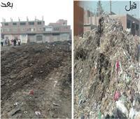 محافظة الجيزة ترفع 20 ألف متر مخلفات من «مقالب أوسيم»
