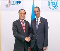 «طلعت» يلتقي الأمين العام للاتحاد الدولي للاتصالات| صور 