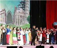 صور| تفاصيل افتتاح الرئيس السيسي مسرح شباب العالم
