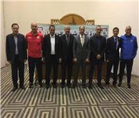 محمود سعد يحضر اجتماعات اتحاد شمال إفريقيا